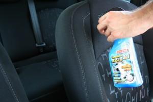 pulizia interni auto con trattamento Tessuti3in1