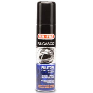 Pulicasco, prodotto pulitore per interni casco, rinnova e pulisce l'interno del casco, antiodore. Disponibile su Mafra Shop, Kit Pulizia Moto e Scooter