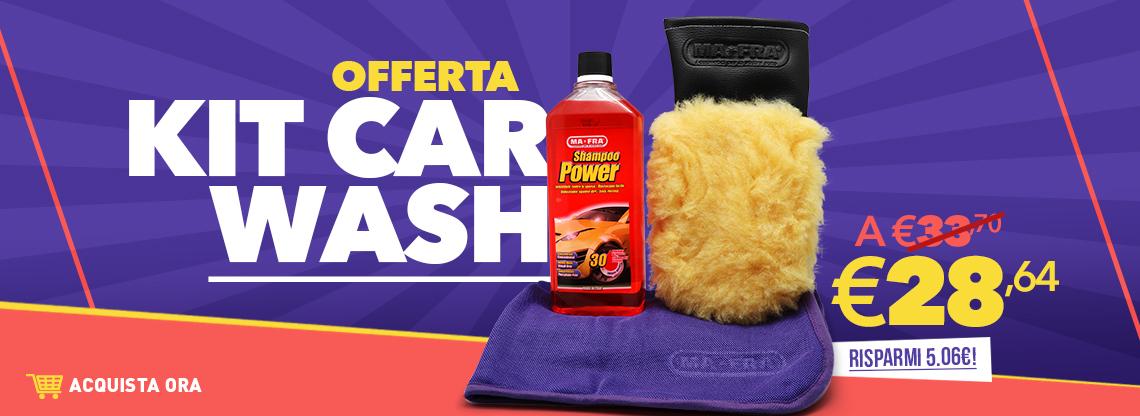 Banner presentazione Kit Car Wash e guanto microlana All Seasons disponibile su Mafra Shop