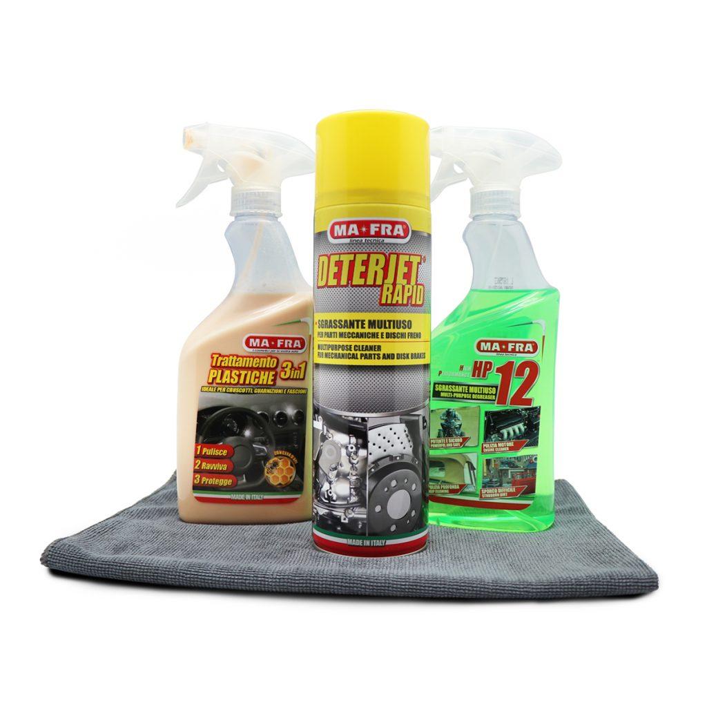 4 prodotti Mafra per pulire il vano motore della tua auto