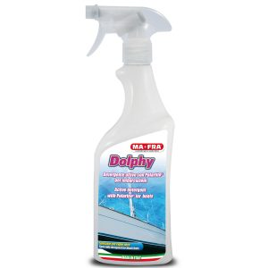 Dolphy detergente attivo per imbarcazioni lo trovi all'interno del kit nautico pulizia barca disponibile solo su Mafra Shop