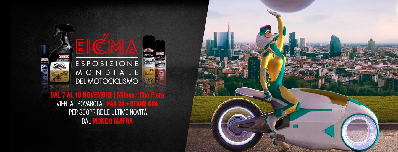 EICMA 2019 Esposizione Internazionel del Ciclo e Motociclo Mafra Pad 24 Stand G84