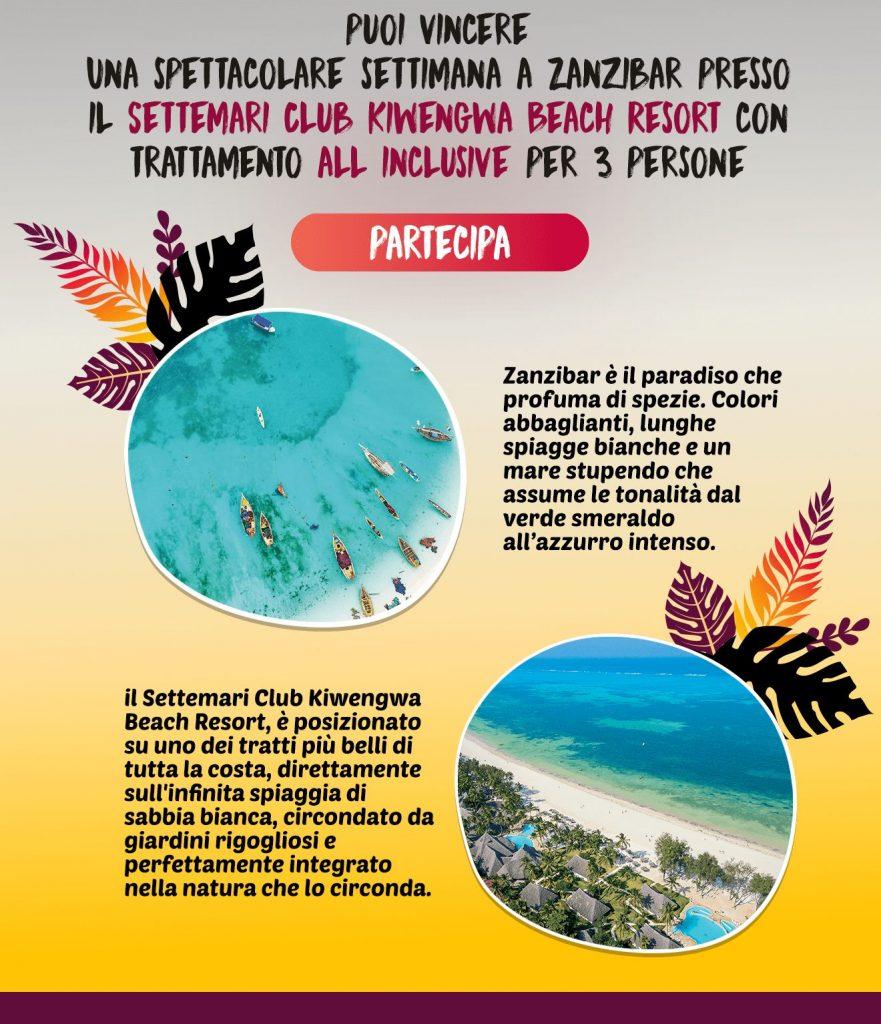 Club Kiwengwa Beach Resort Zanzibar Concorso Vinci Con Mafra