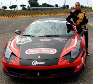 Fabio Barone e la sua Ferrari